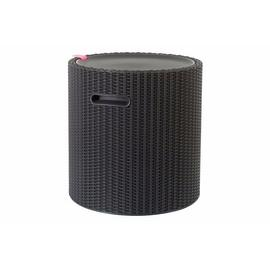 Keter Cool Stool Rattan Effect Storage Box 39L - Graphite