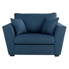 Argos Home Renley Fabric Cuddle Chair - Blue