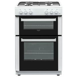 Bush BGC60DW 60cm Double Oven Gas Cooker - White