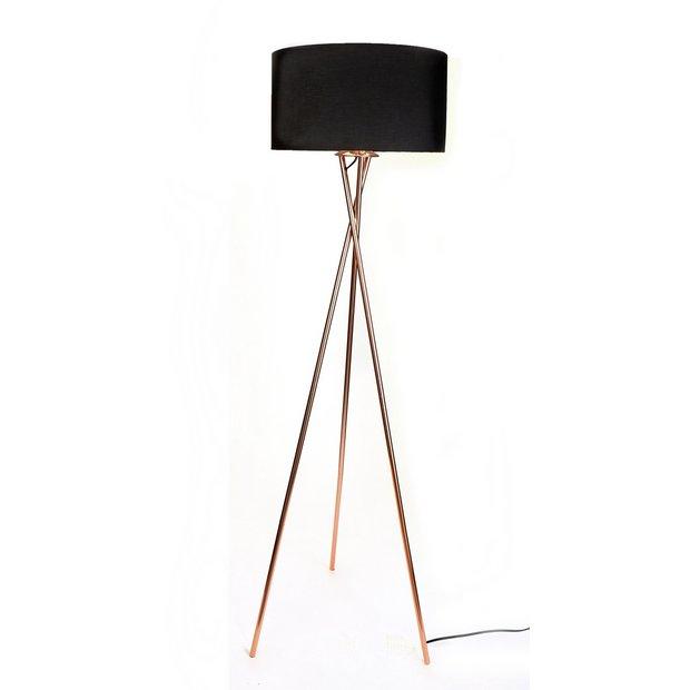 Buy Argos Home Tripod Floor Lamp Copper & Black | Floor lamps | Argos