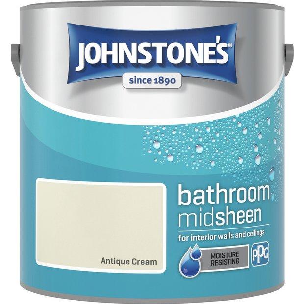 Buy Johnstone S Bathroom Paint 2 5l Antique Cream Paint Argos