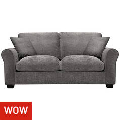 Argos Home Tammy 2 Seater Fabric Sofa bed - Charcoal
