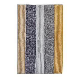 Argos Home Striped Bath Mat - Grey and Mustard