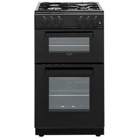 Bush BGC50DB 50cm Double Oven Gas Cooker - Black