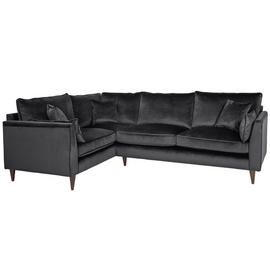 Argos Home Hector Left Corner Velvet Sofa - Grey