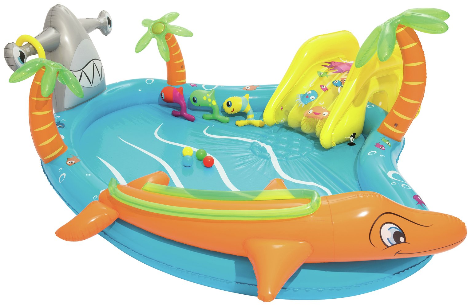 9ft Chad Valley Rectangular Inflatable Paddling Pool Family Ocean Lagoon Kids 9