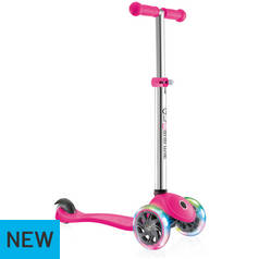 Globber Primo Lights Tri Scooter - Pink