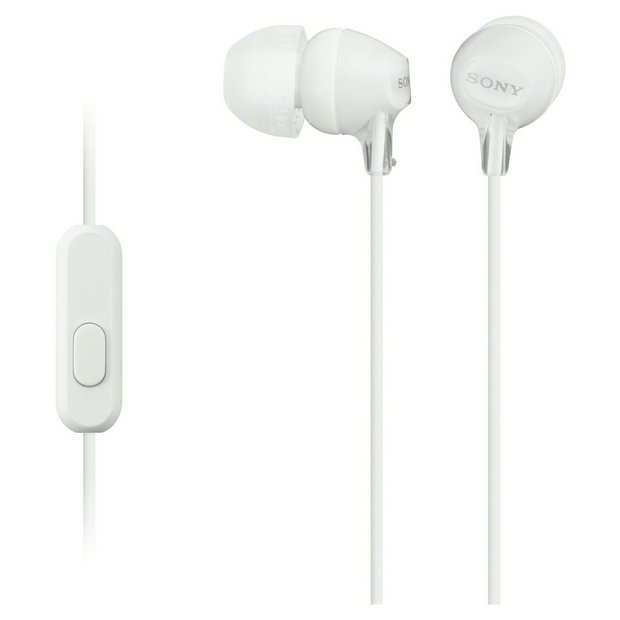 Sony MDR-EX15AP In-Ear Wired Headphones - White