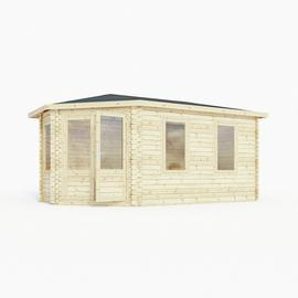 Mercia Wooden 10 x 17ft Double Glazed Corner Lodge