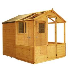 Mercia 8 x 6ft Combi Greenhouse and Wooden Shed Best Price, Cheapest Prices