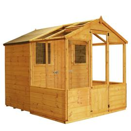Mercia 8 x 6ft Combi Greenhouse and Wooden Shed