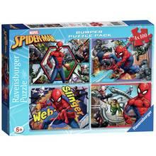 Marvel Spider-Man 4 x 100pc Puzzles