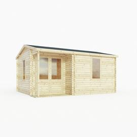 Mercia Wooden 17 x 14ft Double Glazed Home Office