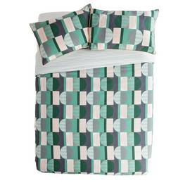 Argos Home Geo Squares Printed Bedding Set - Double