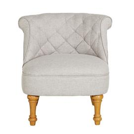 Argos Home Mika Quilted Fabric Accent Chair - Light Grey