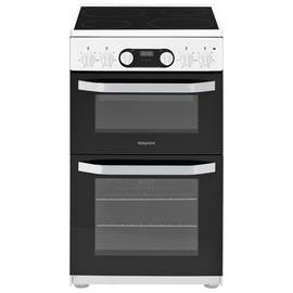 Hotpoint HD5V93CCW 50cm Double Oven Electric Cooker - White