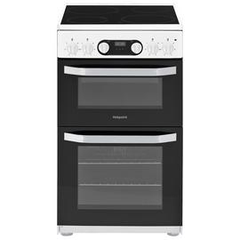 Hotpoint HD5V93CCW 50cm Double Oven Electric Cooker - White Best Price, Cheapest Prices