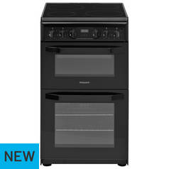 Hotpoint HD5V93CCB Double Gas Cooker - Black