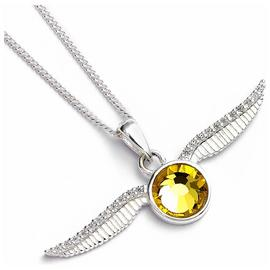 Harry Potter Golden Snitch Necklace with Crystals