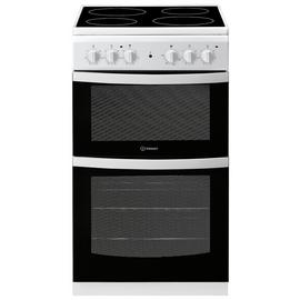 Indesit ID5V92KMW 50cm Single Oven Electric Cooker - White Best Price, Cheapest Prices