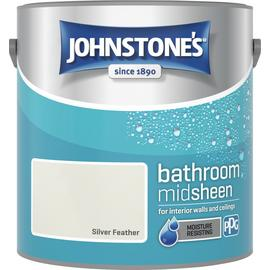 Johnstones Feather Bathroom Emulsion Paint 2.5L - Silver