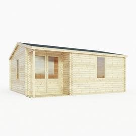 Mercia Wooden 20 x 17ft Double Glazed Home Office