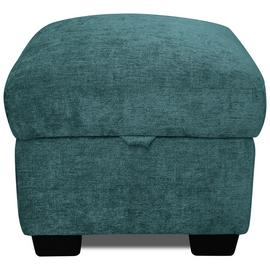 Argos Home Tammy Fabric Storage Footstool - Teal