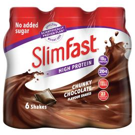 SlimFast Chunky Chocolate Ready To Drink Shakes 6x325ml