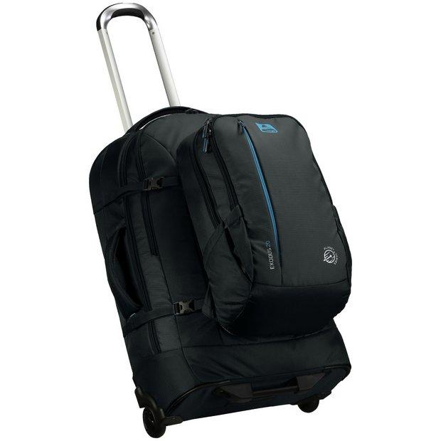 Vango Exodus Wheeled Travel Bag and 60L Backpack - Black
