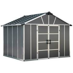 Palram Yukon Plastic 11 x 9ft Shed - Dark Grey Best Price, Cheapest Prices