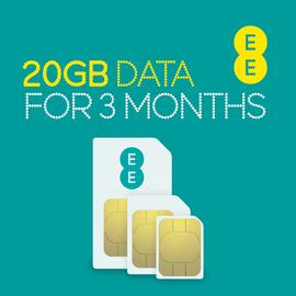 EE 4G 20GB Pay As You Go Data SIM Card