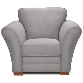 Argos Home New Thornton Fabric Armchair - Light Grey