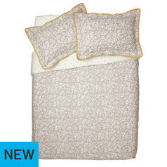 Argos Home Monochrome Floral Bedding Set - Superking