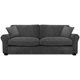 Argos Home Tammy 4 Seater Fabric Sofa - Charcoal