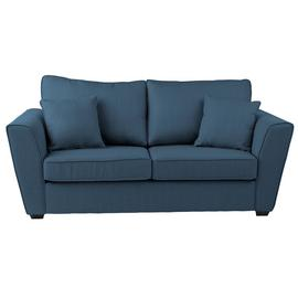 Argos Home Renley 2 Seater Fabric Sofa bed - Blue
