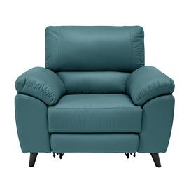 Argos Home Elliot Leather Mix Power Recliner Chair - Teal