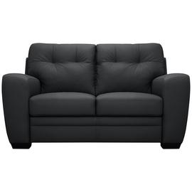 Argos Home Raphael Compact 2 Seater Leather Mix Sofa - Black