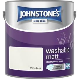 Johnstone's Washable Paint 2.5L - White Lace