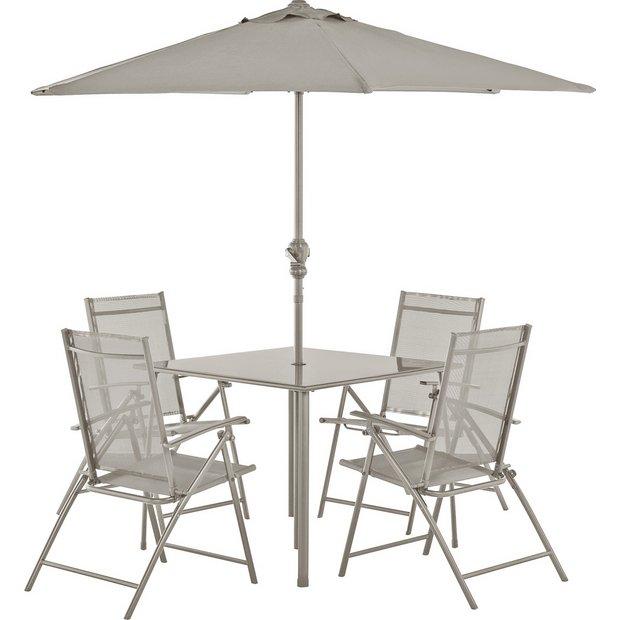 Metal Patio Furniture.Buy Argos Home Milan 4 Seater Metal Patio Set Mink Limited Stock Home And Garden Argos