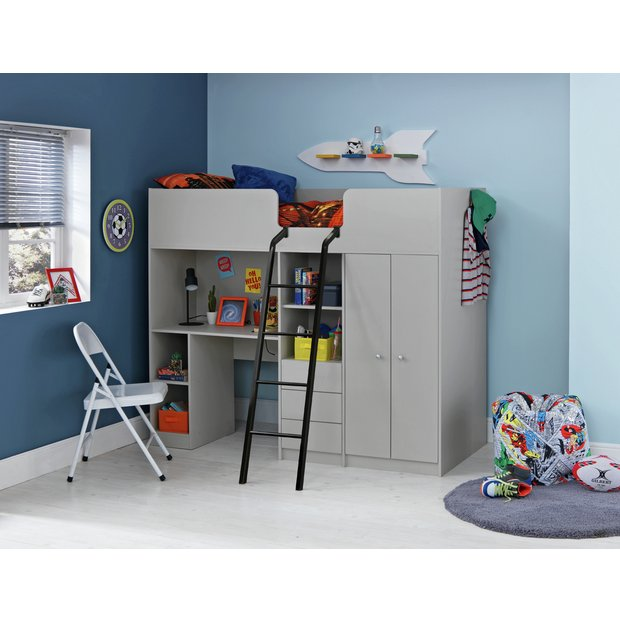 ceb2485af079 Buy Argos Home Ohio Grey Single High Sleeper Bed Frame | Kids ...