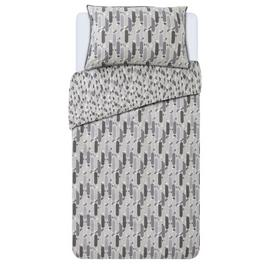 Argos Home Grey Triangle Tile Printed Bedding Set - Single