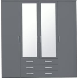 Argos Home Hallingford 4 Door 3 Drawer Mirrored Wardrobe