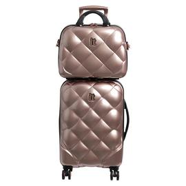 it Luggage 8 Wheel Hard Cabin Suitcase & Vanity Set