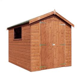 Mercia Wooden 8 x 6ft Shiplap Glazed Window Shed