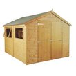 more details on Mercia Wooden 10 x 8ft Shiplap 2 Glazed Window Shed