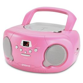 Groove Boombox CD Player with Radio - Pink