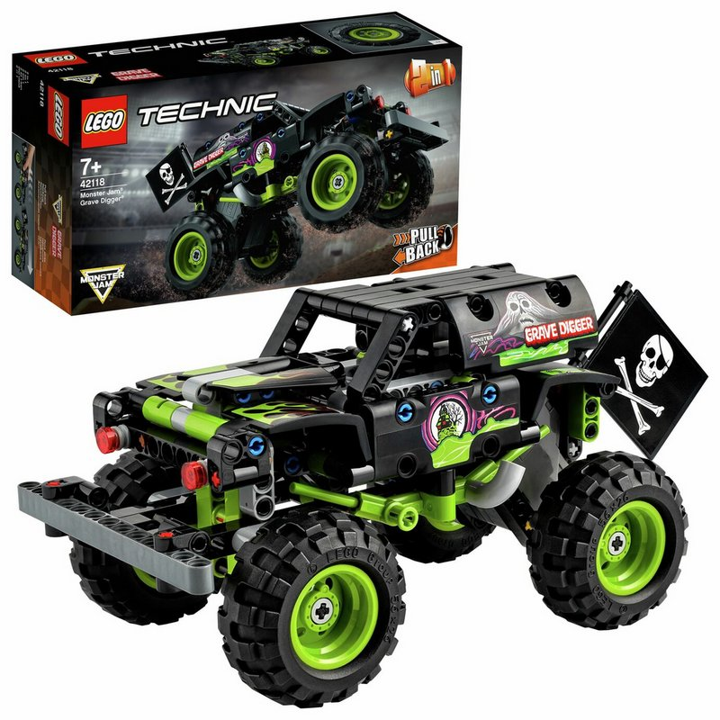 LEGO Technic Monster Jam Grave Digger Truck 2 in 1 Set 42118 from Argos