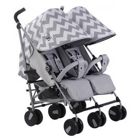 My Babiie Billie Faiers MB22 Twin Stroller - Grey