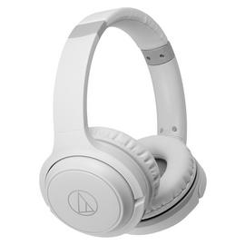 Audio Technica ATH-S200BTWH On-Ear Wireless Headphones-White