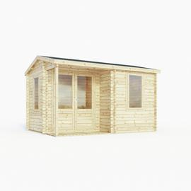 Mercia Wooden 14 x 11ft Double Glazed Window Home Office